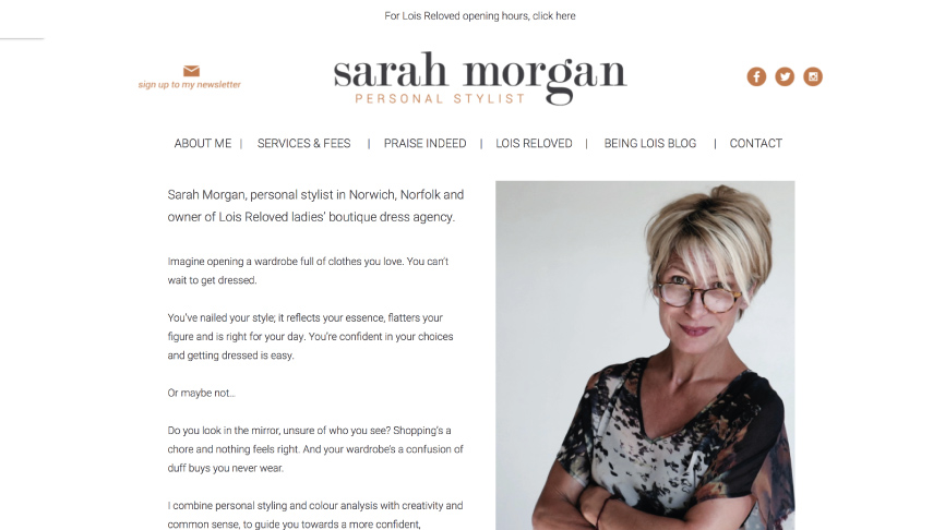 Sarah Morgan Website