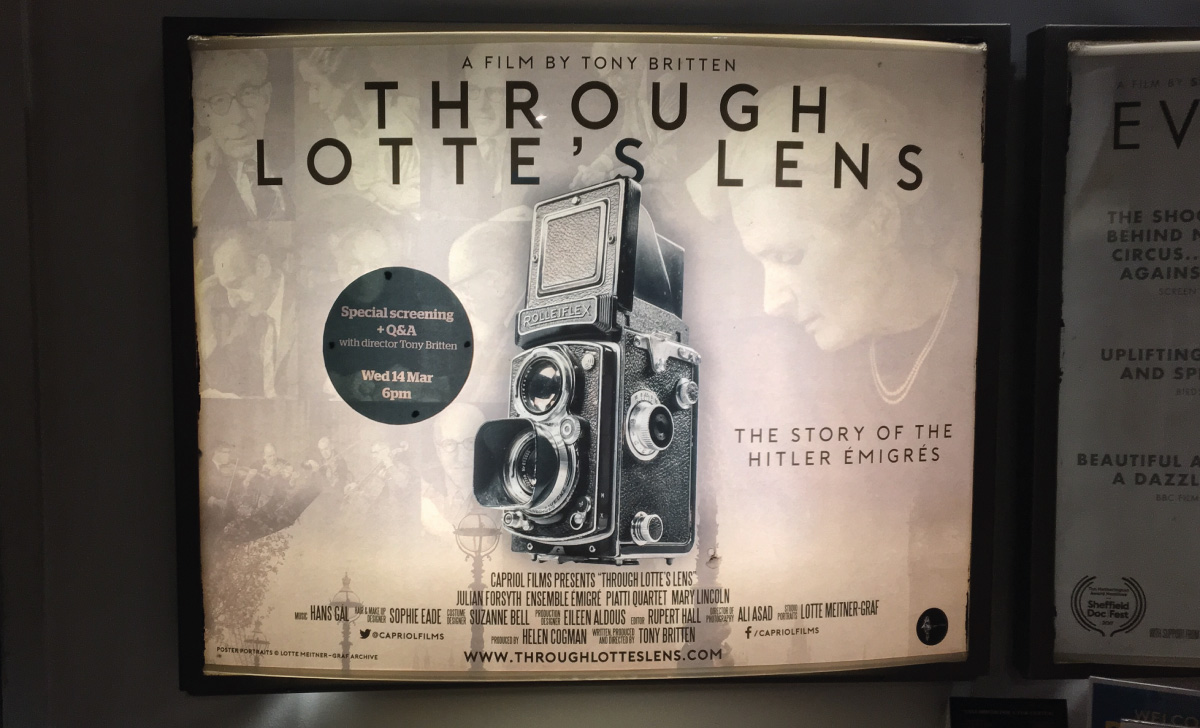Through Lotte's Lens film poster design