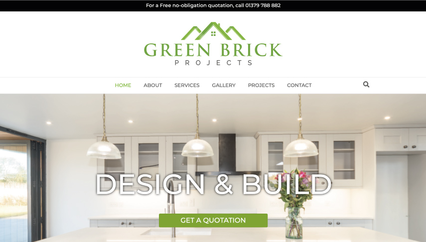 Green Brick Projects Website Design
