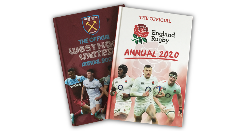 England Rugby & West Ham Annuals
