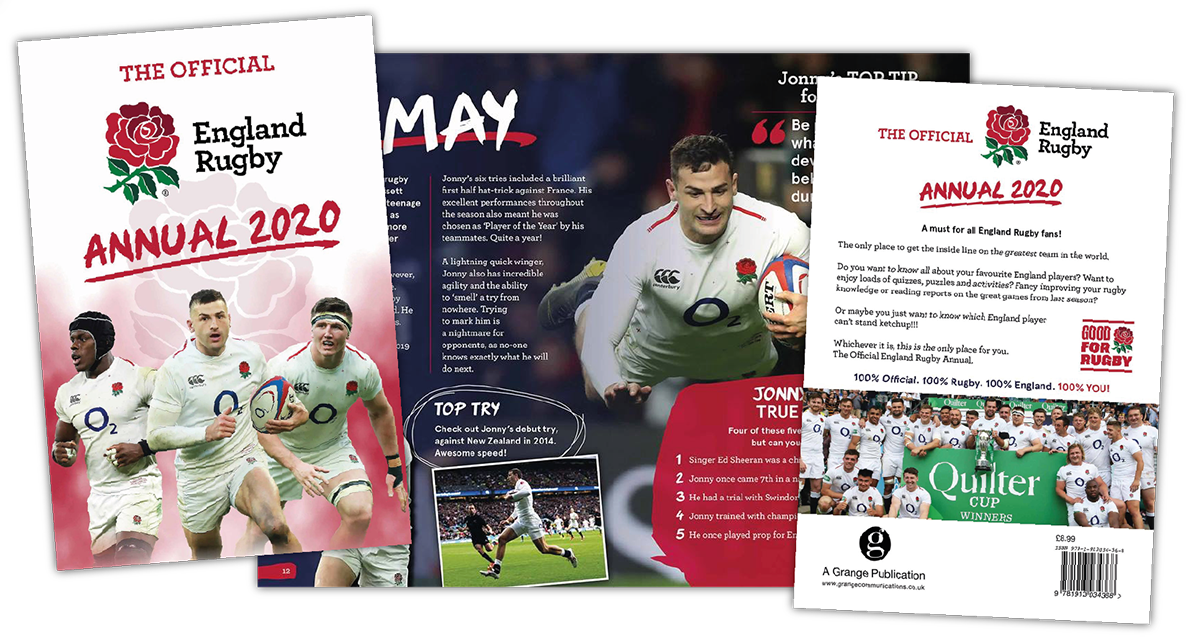 England Rugby Official Annual 2020 Designer