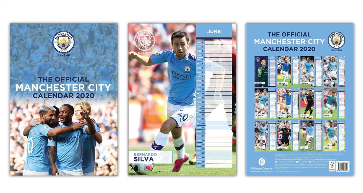 Manchester City Football Club Official Calendar Designer